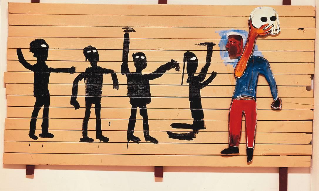 Detalhe de 'Procissão' (1986), uma das obras da mostra que, além de passar por São Paulo e Rio, vai a Brasília e Belo Horizonte Foto: Divulgação