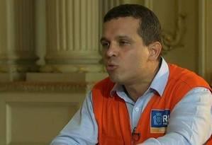 Rubens Teixeira: indicado para comandar a Secretaria municipal de Transportes Foto: Reprodução / TV Globo