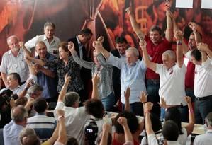 Lula é lançado candidato à Presidência durante ato do PT em São Paulo Foto: STRINGER / REUTERS