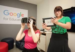 Realidade virtual. Na Cultura Foto: Brenno Carvalho / Brenno Carvalho