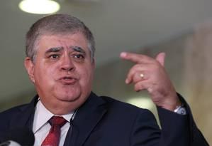O ministro-chefe da Secretaria de Governo, Carlos Marun, durante entrevista no Palácio do Planalto Foto: Givaldo Barbosa/Agência O Globo/24-01-2018