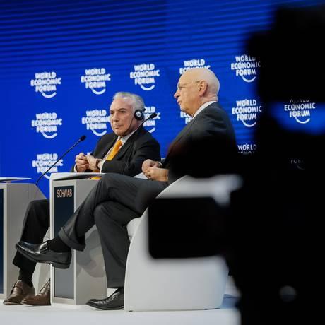 Michel Temer em Davos Foto: Beto Barata / Agência O Globo