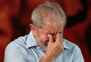 Lula em encontro com militantes Foto: STRINGER / REUTERS