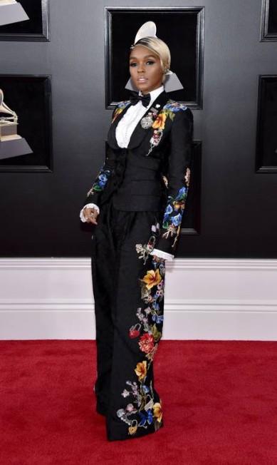 Janelle Monáe na 60ª edição do Grammy John Shearer / AFP