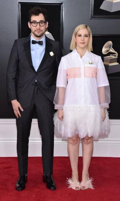 Jack e Rachel Antonoff na 60ª edição do Grammy John Shearer / AFP