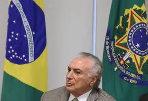 O presidente Michel Temer Foto: Ailton de Freitas / Agência O Globo 22/01/2018