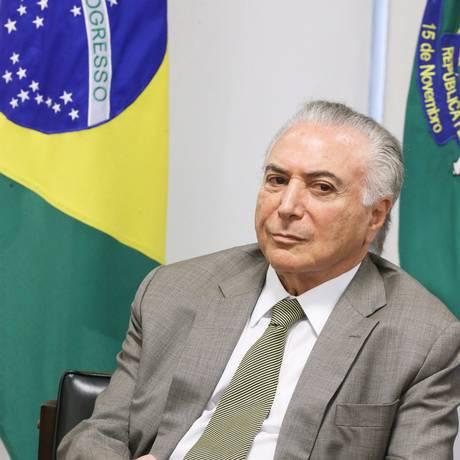 Presidente Michel Temer Foto: Aílton de Freitas/Agência O Globo