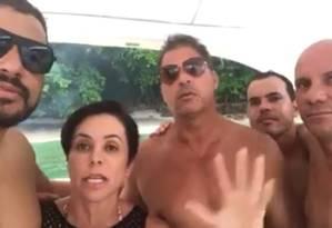 A deputada Cristiane Brasil, em vídeo no qual fala sobre processos na Justiça trabalhista Foto: Reprodução do Facebook