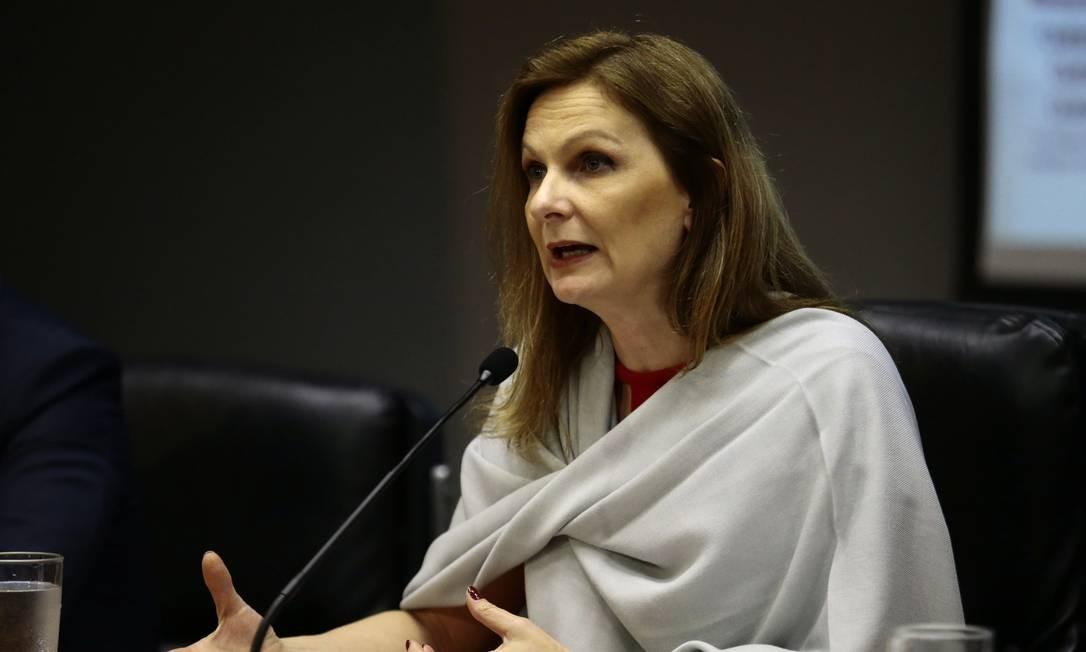 A secretária do Tesouro Nacional, Ana Paula Vescovi, durante entrevista Foto: / Jorge William/Agência O Globo/26-12-2017