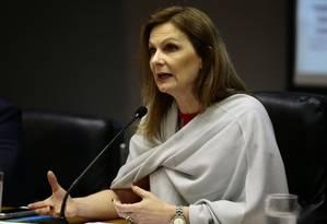 A secretária do Tesouro Nacional, Ana Paula Vescovi, durante entrevista Foto: Jorge William/Agência O Globo/26-12-2017