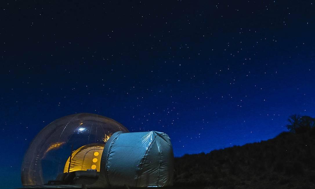 O foco do local, segundo os organizadores, é o turismo astronômico, ou astroturismo, aquele que valoriza a qualidade do céu para observação de estrelas, planetas, galáxias e cometas Foto: Divulgação/Bubbletent Australia