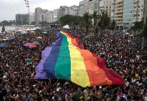 Parada LGBTI de Copacabana Foto: LEO CORREA / AFP