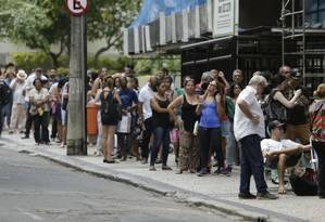 RI Rio de Janeiro (RJ) 25/01/2018 - Fila da vacinação contra a febre amarela no posto Heitor Beltrão, na Tijuca. Foto de Gabriel de Paiva / Agencia O Globo Foto: Gabriel Paiva / Gabriel Paiva