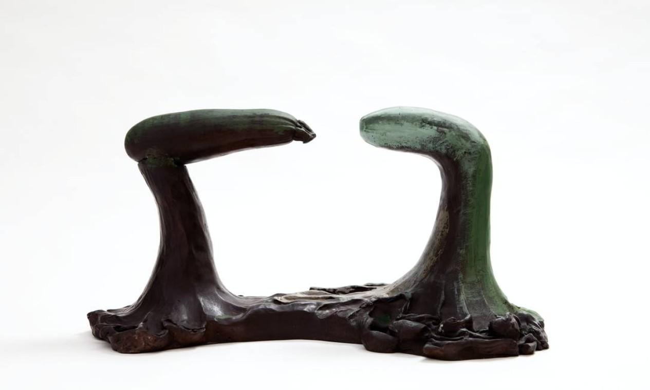 Obra 'Tarsila com novo' (2011), de Erika Verzutti, também faz parte da exposição Foto: Erika Verzutti / Divulgação