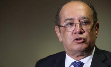 O ministro Gilmar Mendes, do Supremo Tribunal Federal Foto: Ailton de Freitas / Agência O Globo