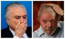 O presidente Michel Temer e o ex-presidente Luiz Inácio Lula da Silva Foto: Montagem sobre fotos
