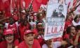 Manifestação contra a condenação e prisão de Lula