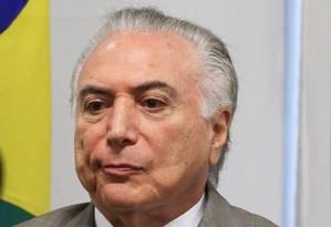 O presidente Michel Temer participa de cerimônia no Palácio do Planalto Foto: Ailton de Freitas/Agência O Globo/22-01-2018