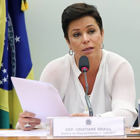 A deputada federal Cristiane Brasil (PTB-RJ) durante audiência na Câmara Foto: Gilmar Felix/Câmara dos Deputados/30-08-2017