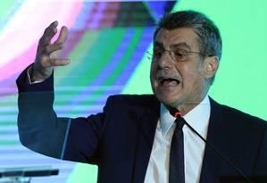 O senador Romero Jucá participa da convenção do PMDB Foto: Jorge William/Agência O Globo/19-12-2017
