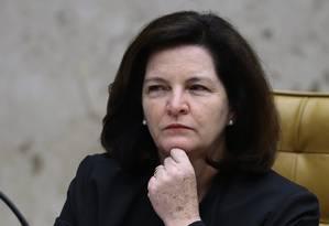 A procuradora-geral da República, Raquel Dodge, em sessão do Supremo Tribunal Federal em dezembro - 14/12/2017 Foto: Jorge William / Agência O Globo