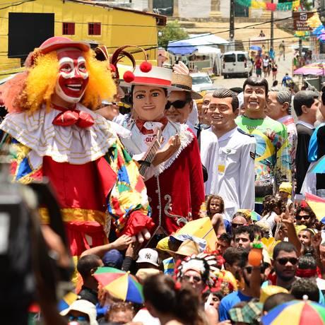 Os Bonecos Gigantes de Olinda chegam na Casa Bloco Foto: Divulgação/Ademar Filho