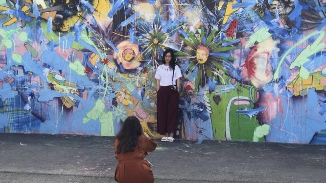 Grafite em Winwood Walls: visita a bairro de Miami é ideal para quem aprecia arte urbana Foto: Daniel Marenco / Agência O Globo