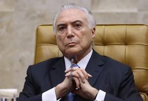 O presidente Michel Temer participa da sessão de abertura do Ano Judiciário no STF Foto: Jorge William / Agência O Globo