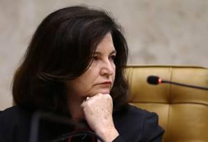 A procuradora-geral da República, Raquel Dodge, participa da sessão de abertura do Ano Judiciário, no STF Foto: Jorge William / Agência O Globo