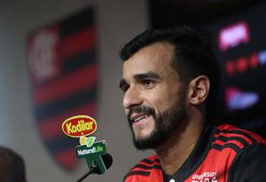 Henrique Dourado é a principal contratação do Flamengo em 2018 Foto: Gilvan de Souza