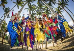 Caracterizações em grupo estão em alta no carnaval do Rio Foto: Agência O Globo