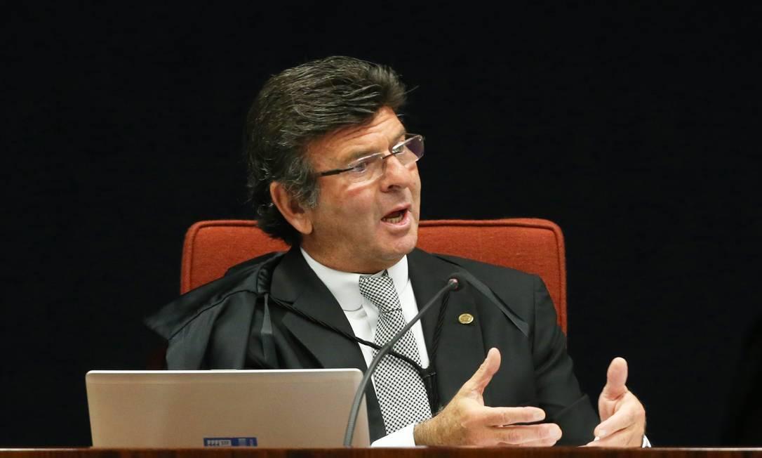 O ministro Luiz Fux, do Supremo Tribunal Federal: autor da liminar que estendeu benefício a toda a magistratura Foto: Ailton de Freitas / Agência O Globo/24-10-17