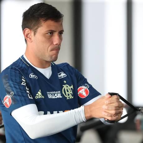 Diego Alves ainda não tem data para voltar ao Flamengo Foto: Gilvan de Souza/Flamengo