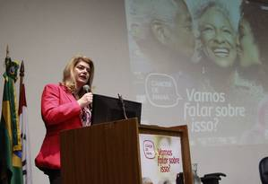 Ana Cristina Mendes, diretora-geral do Inca Foto: Fábio Guimarães / Agência O Globo/6-10-2016