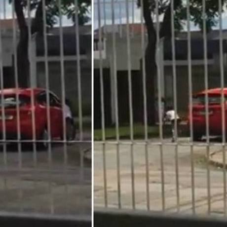 Menina implorou aos berros para a mãe não deixá-la na rua Foto: Reprodução/Facebook