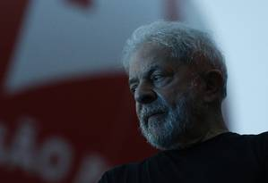 O ex-presidente Lula participa de ato em São Paulo Foto: Edilson Dantas/Agência O Globo/24-01-2018