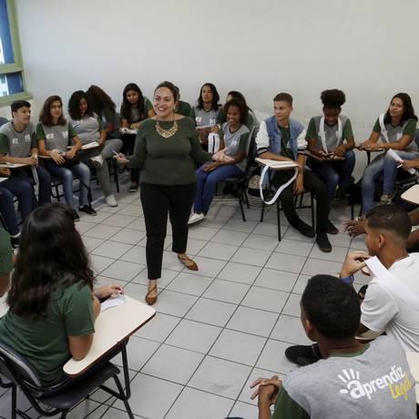 Turma de jovens aprendizes no Ciee do Rio Foto: Agência O Globo