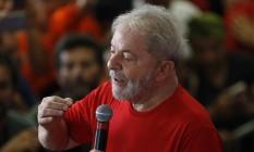 O ex-presidente Luiz Inácio Lula da Silva participa de ato em São Paulo Foto: Edilson Dantas/Agência O Globo/24-01-2018