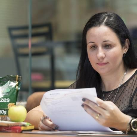 Flavia de Abreu passou a seguir dieta restritiva para manter a glicose estável Foto: Ana Branco / Agência O Globo