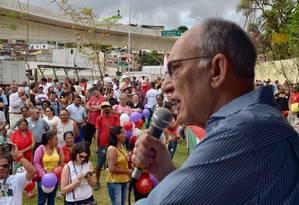 Militantes participam de inauguração do Viaduto Marisa Letícia Foto: Divulgação/ PT