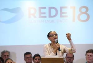Rede lança Marina Silva como pré-candidata à Presidência em 2018 Foto: Ailton de Freitas / Ailton Freitas