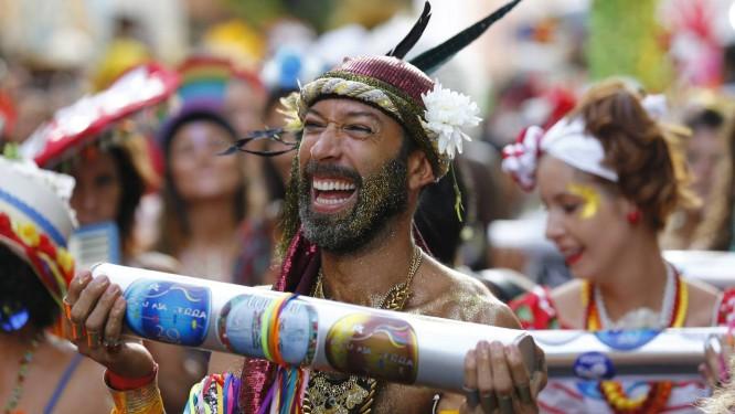 Desfile do Bloco Céu na Terra neste sábado em Santa Teresa Foto: Pablo Jacob / Agência O Globo