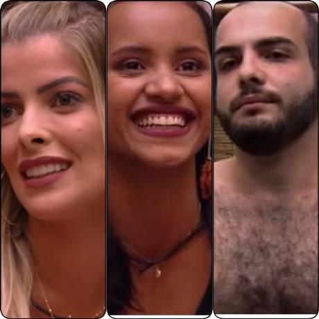 Jéssica, Gleici e Mahmoud estão no paredão Foto: Reprodução