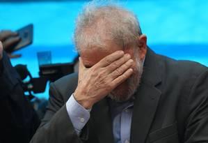 O ex-presidente Lula durante comício em Porto Alegre. 23/01/2018 Foto: Paulo Whitaker / REUTERS