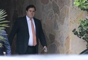 Presidente da Câmara, Rodrigo Maia deixa residência oficial após reunião com governadores Foto: Jorge William / Agência O Globo
