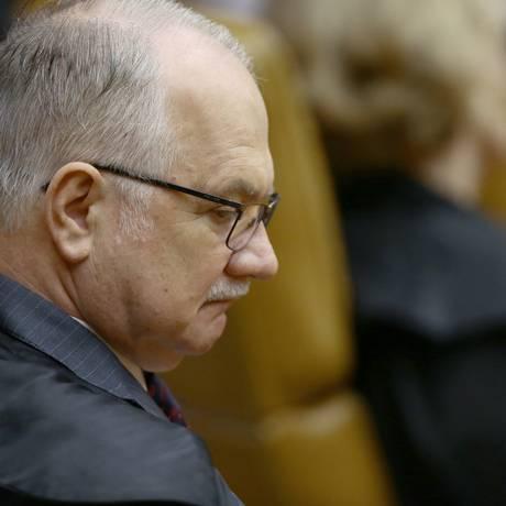 O ministro Edson Fachin, durante sessão de abertura do Supremo Tribunal Federal Foto: Jorge William / Jorge William/Agência O Globo/01-01-2018