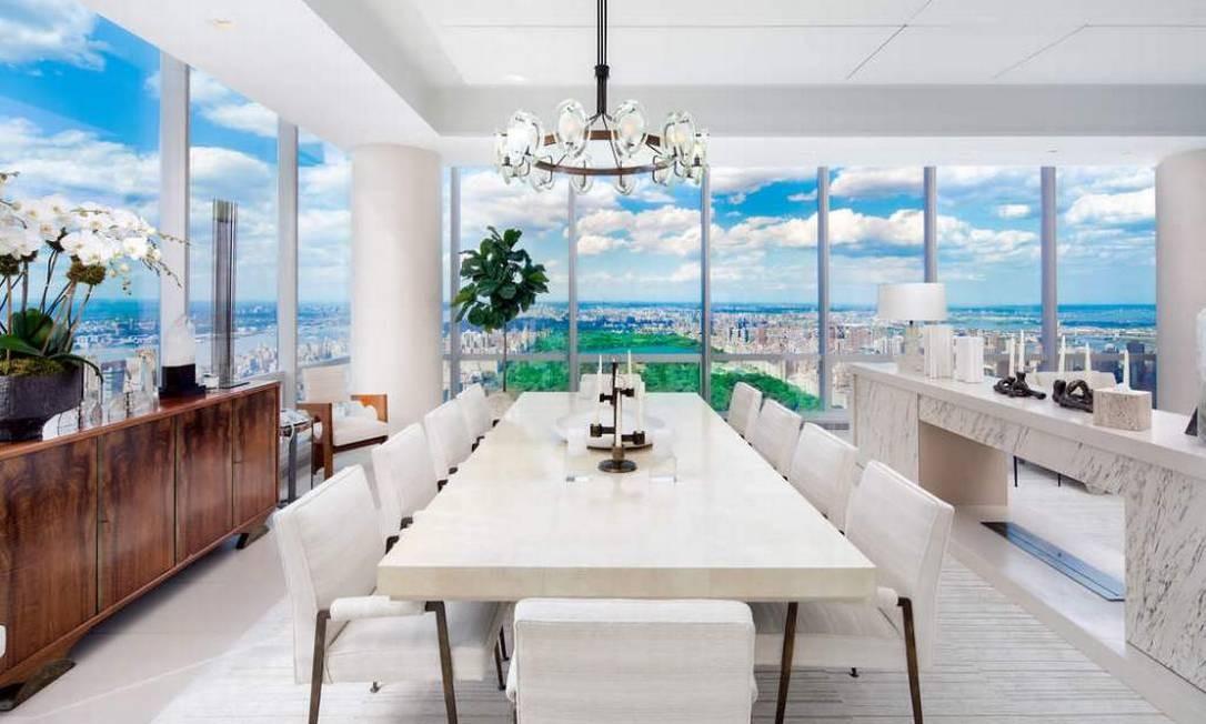 O apartamento do milionário é o quinto mais caro de Manhattan Foto: Divulgação / Sotheby's International Realty