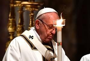 Papa Francisco foi criticado por defender acusado de testemunhar e encobrir abusos sexuais no Chile Foto: VINCENZO PINTO / AFP
