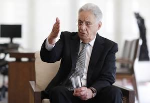 O ex-presidente Fernando Henrique Cardoso Foto: Edilson Dantas / Agência O Globo / 13-12-17