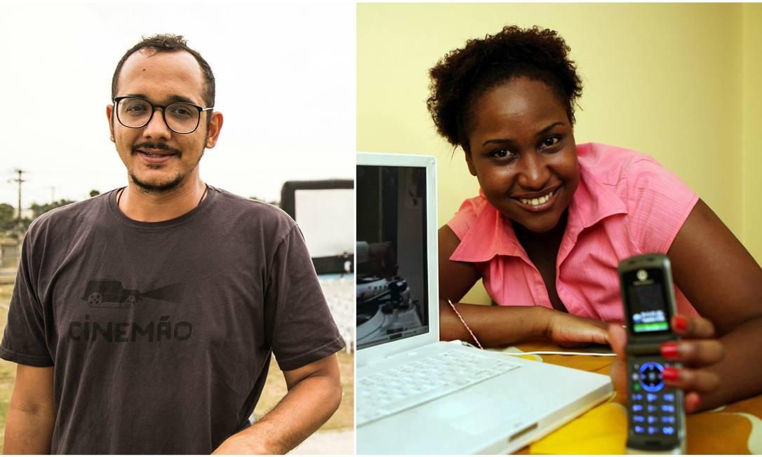 Cid César Augusto, do Projeto Cinemão, e Sabrina Fidalgo, diretora do curta 'Rainha' Foto: Infoglobo